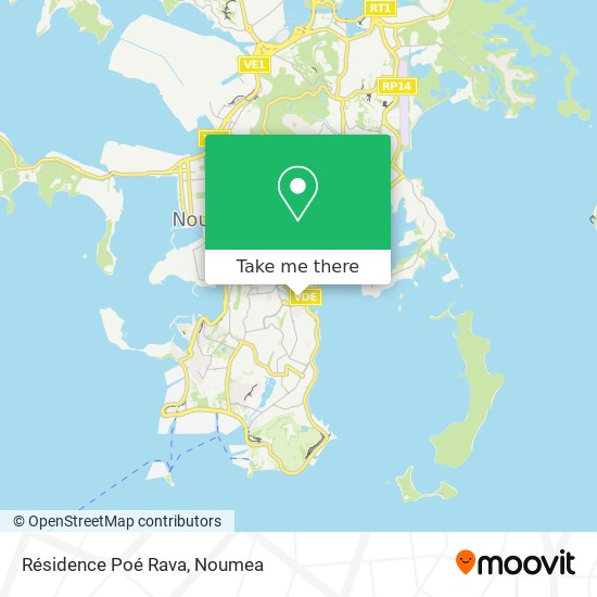Résidence Poé Rava map