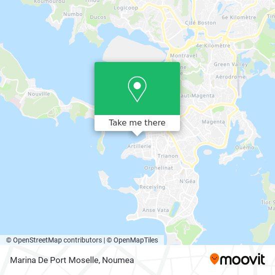 Marina De Port Moselle map
