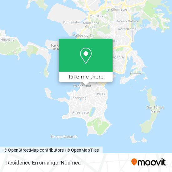 Résidence Erromango map