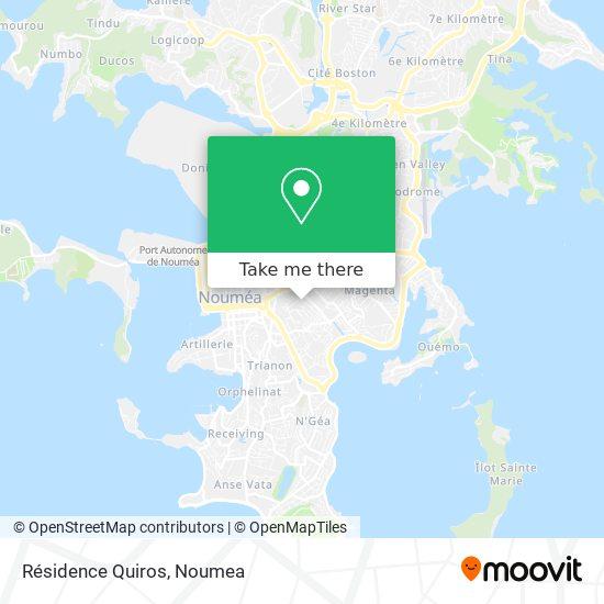 Résidence Quiros map