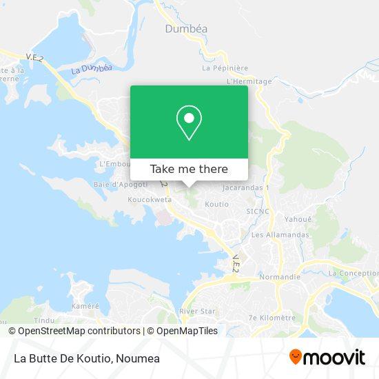La Butte De Koutio map
