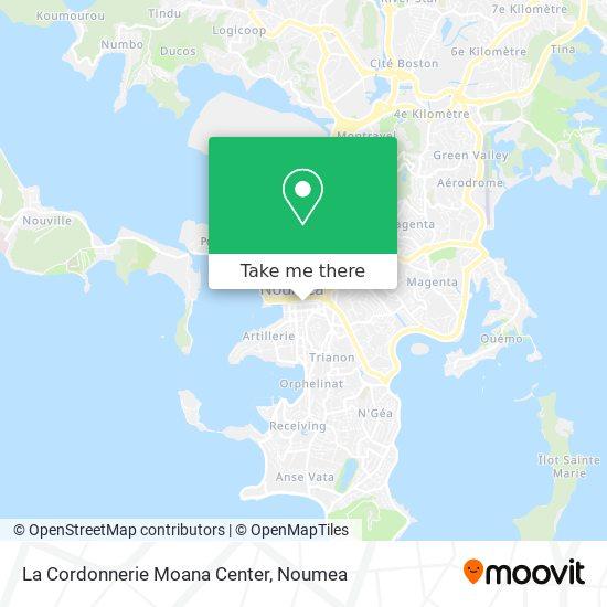 La Cordonnerie Moana Center map
