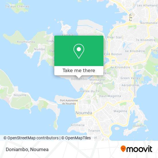 Doniambo map