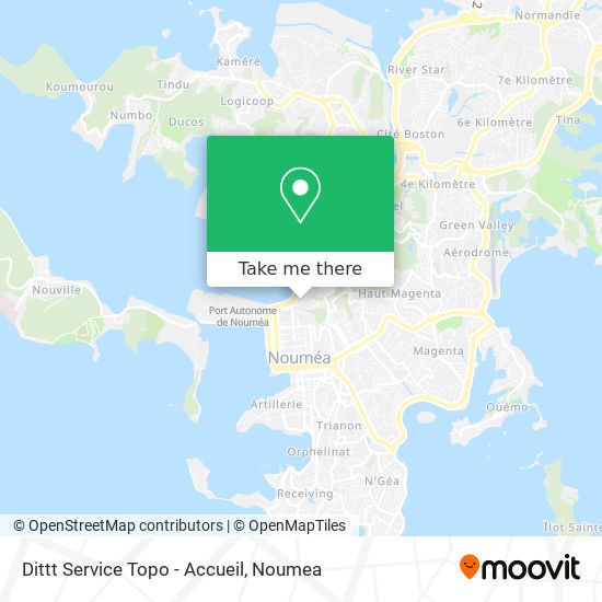 Ditt Service Topo - Accueil Clientèle map