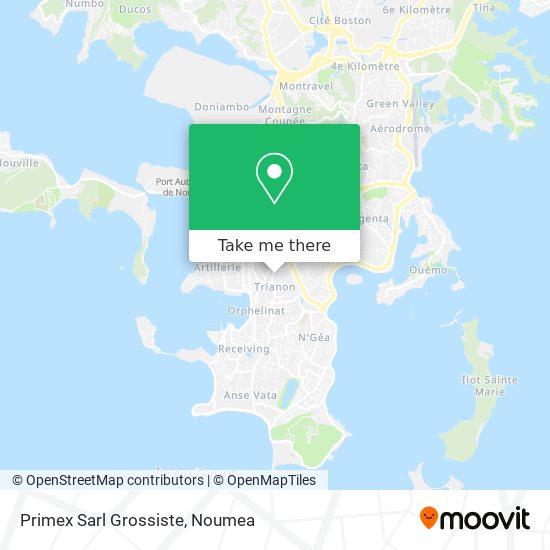 Primex Sarl Grossiste map