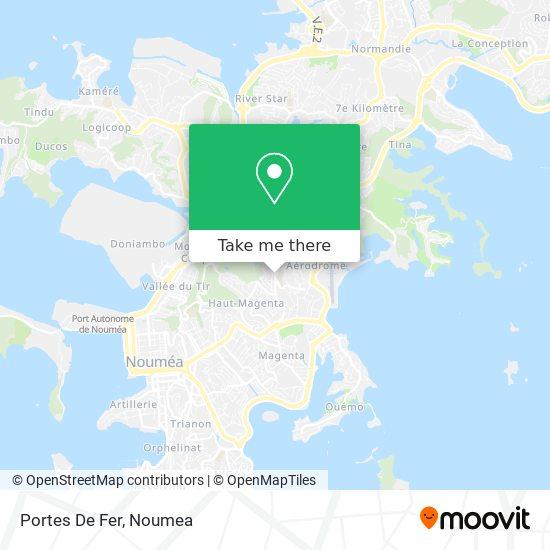 Portes De Fer map