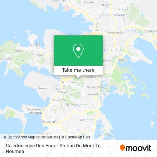 Calédonienne Des Eaux - Station Du Mont Té map