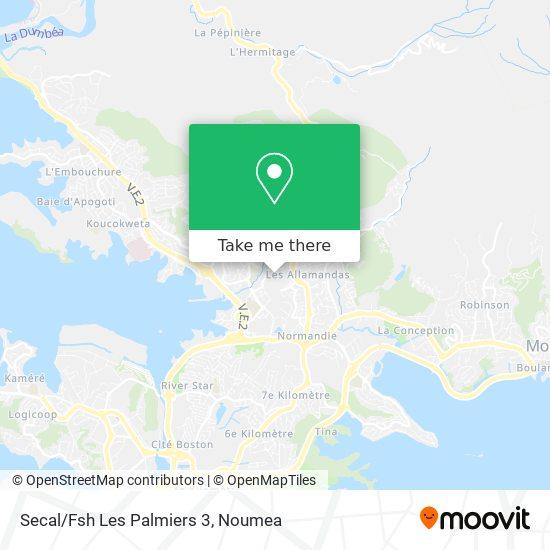 Secal/Fsh Les Palmiers 3 map