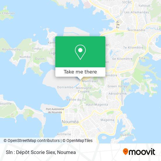 Sln : Dépôt Scorie Siex map