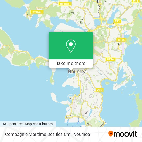 Compagnie Maritime Des Îles Cmi map