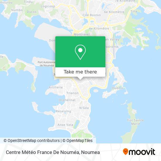 Centre Météo France De Nouméa map