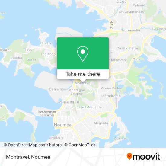 Montravel map