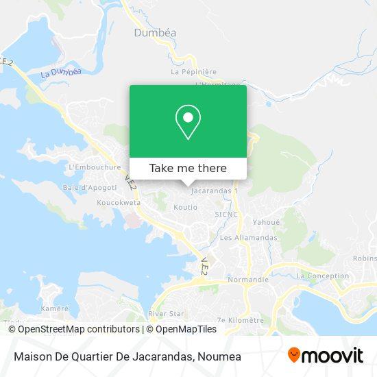 Maison De Quartier De Jacarandas map