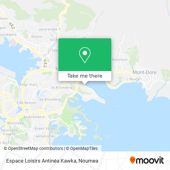 Espace Loisirs Antinéa Kawka map