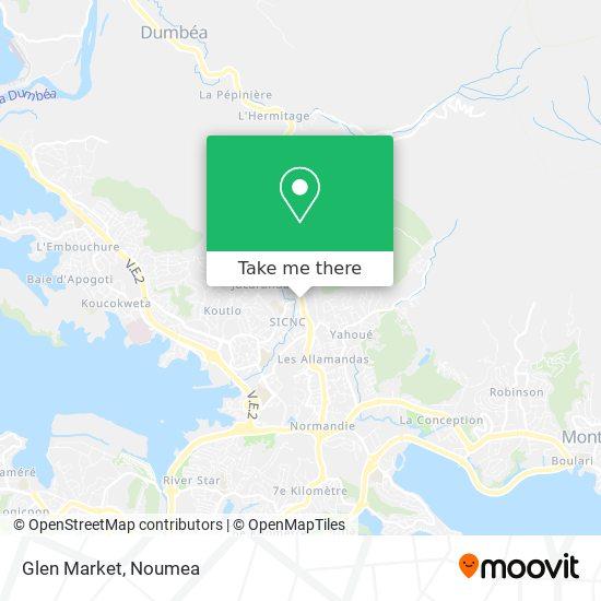 Glen Market map