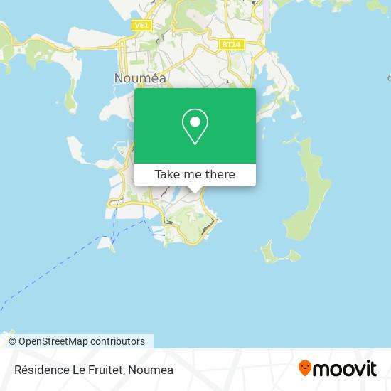 Résidence Le Fruitet map