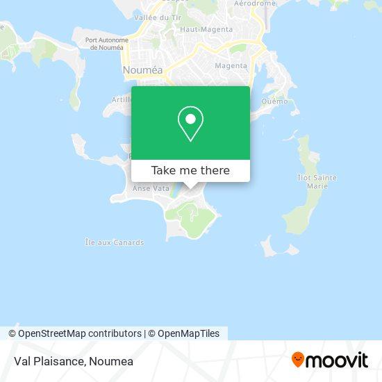 Val Plaisance map