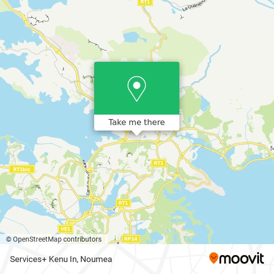 Services+ Kenu In map