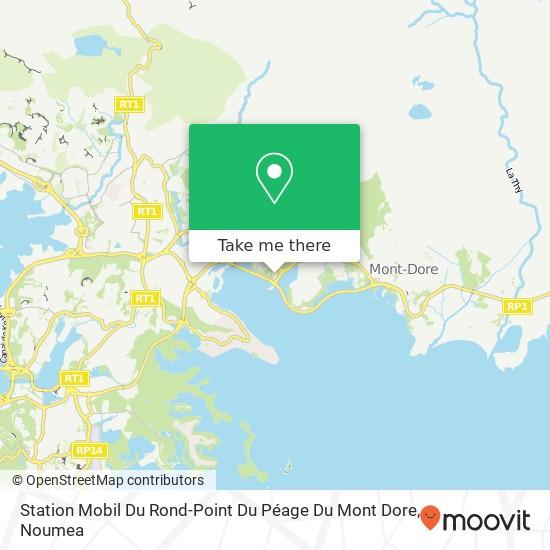 Station Mobil Du Rond-Point Du Péage Du Mont Dore map