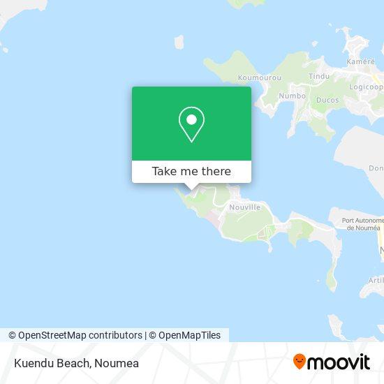 Kuendu Beach map
