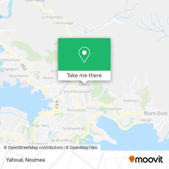 Yahoué map