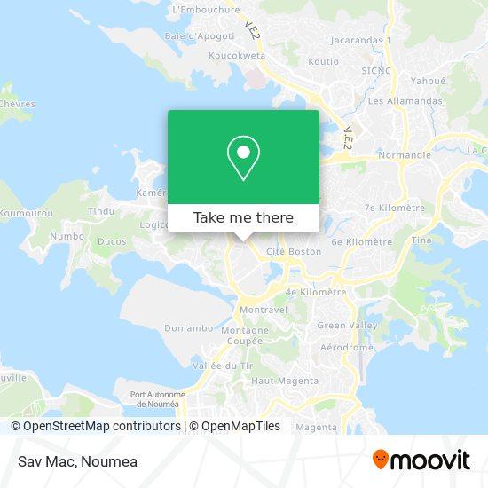 Sav Mac map
