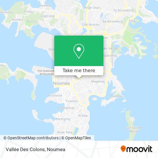 Vallée Des Colons map