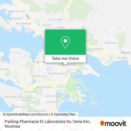 Parking De La Pharmacie Du 7ème Km map