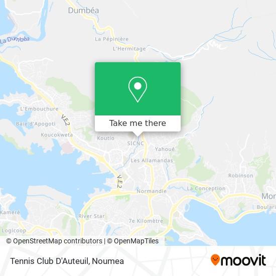 Tennis Club D'Auteuil map