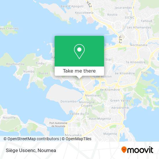 Siège Usoenc map