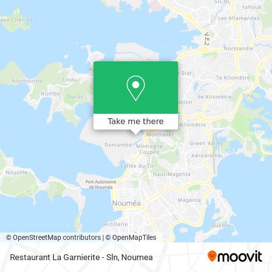 Restaurant La Garnierite - Sln map