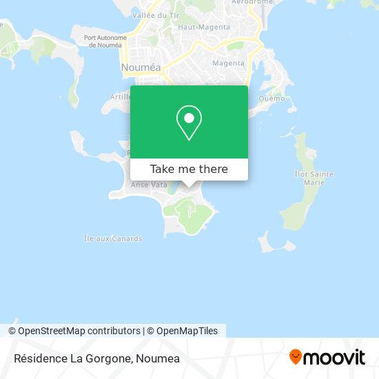Résidence La Gorgone map