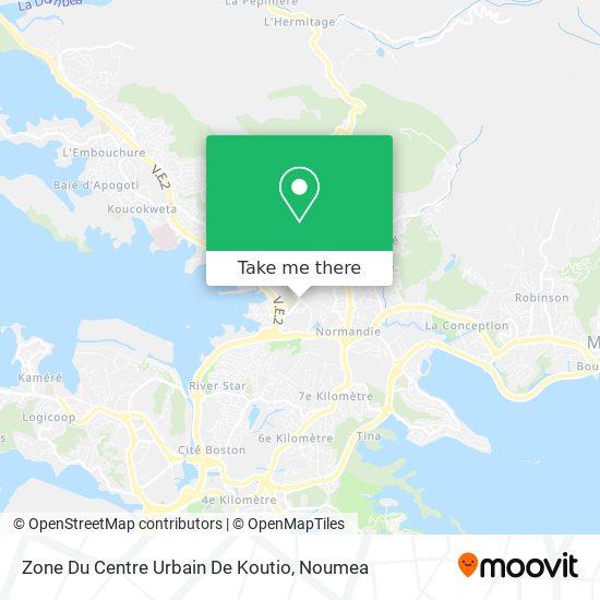 Zone Du Centre Urbain De Koutio map