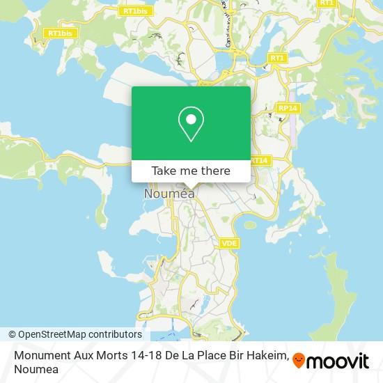 Monument Aux Morts 14-18 De La Place Bir Hakeim map