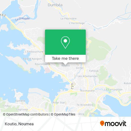 Koutio map