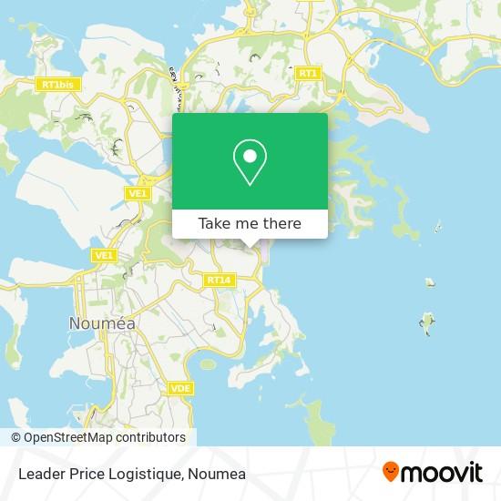 Leader Price Logistique map
