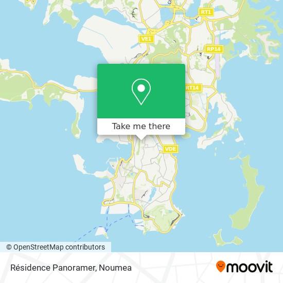 Résidence Panoramer map
