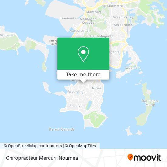 Chiropracteur Mercuri map