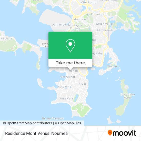 Résidence Mont Vénus map