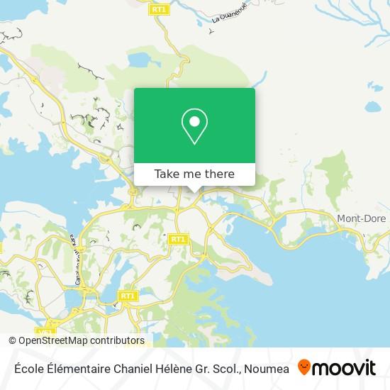 École Élémentaire Chaniel Hélène Gr. Scol. map