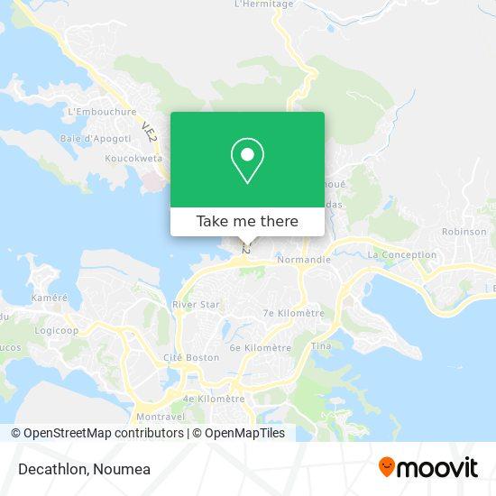 Décathlon map