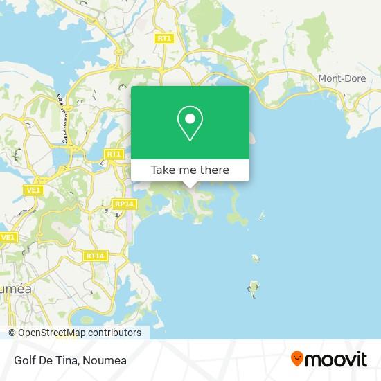 Golf De Tina map