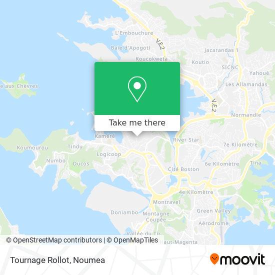 Tournage Rollot map
