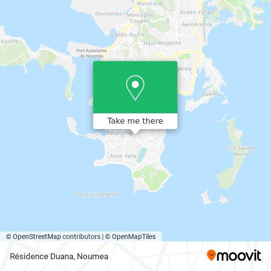 Résidence Duana map