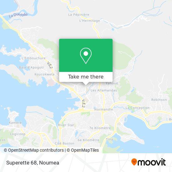 Superette 68 map