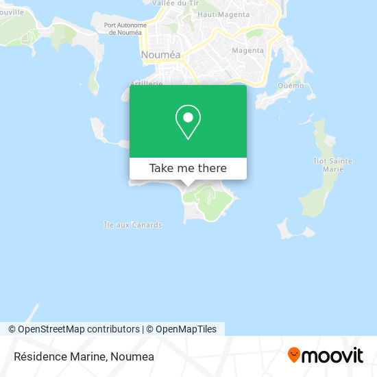 Résidence Marine map