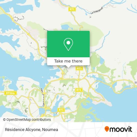 Résidence Alcyone map