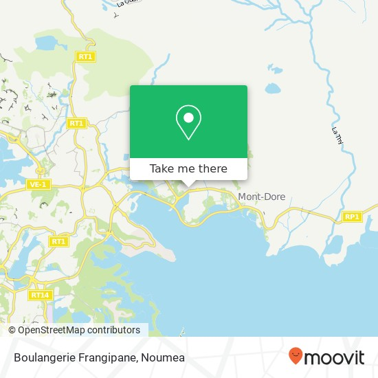 Boulangerie Frangipane map