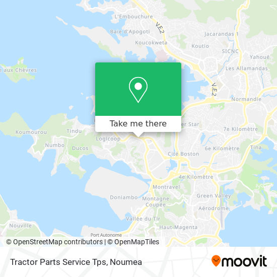 Tractor Parts Service Tps map
