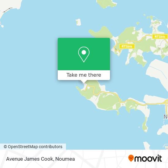 Avenue James Cook map
